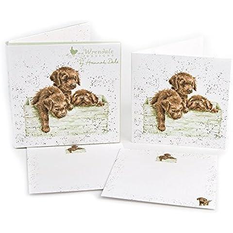 Wrendale Notecards (8281) scatola di cioccolatini–confezione di 12biglietti e buste