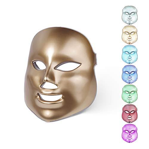 AOMASK LED Gesichtsmaske 7 Farbe Licht Photon Spannen Poren Haut Pflege Therapie Gesichts Schönheit Salon PDT Technologie zum Akne Reduktion Falten Haut Lichtbehandlung -