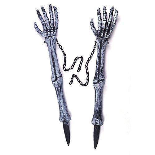 Bristol Novelty HI297 Skelett-Hand, Unisex-Erwachsene, Grau, Einheitsgröße (Für Halloween-motto-bücher Erwachsene)