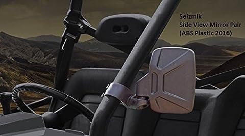 Seizmik 18080 Side View Mirrors ABS Plastic 2016 Model for Polaris Rangers, Yamaha Rhino, John Deere Gator, Bob Cat UTV's by Seizmik