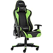 Deerhunter juegos silla, silla de oficina, cuero, respaldo alto ergonómico silla de carreras, ajustable ordenador escritorio giratoria PC silla con reposacabezas y apoyo lumbar