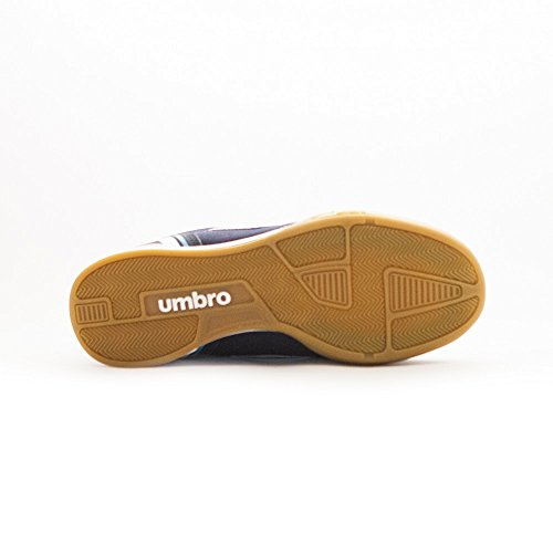 Umbro Futsal Street V IC–Chaussures montantes pour hommes Dark Navy / Blanco / Bluebird