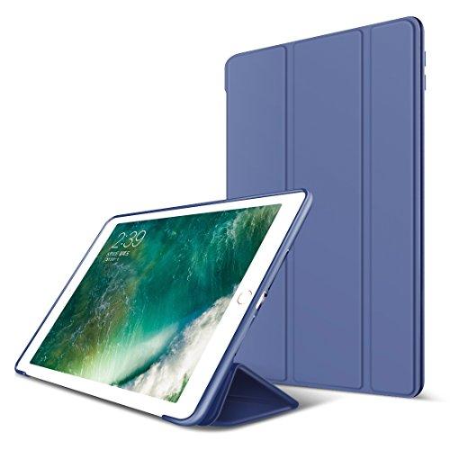 iPad Mini Hülle,GOOJODOQ iPad mini 4 PU Leder Etui Hülle Tasche mit Ständer Funktion und Eingebautem Magnet für Einschlaf/Aufwach Shockproof Silikon weicher TPU Folio Hülle für Apple iPad mini 4(Blau)