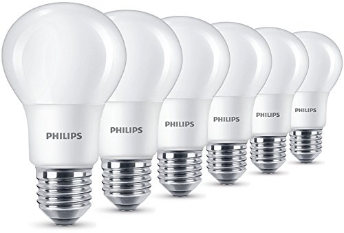 Philips - Pack de 6 Bombillas LED Esférica Casquillo E27, 8 W,...