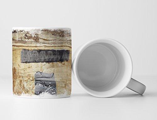 Eau Zone Design Abstrakt Tasse Geschenk Abstrakte Kunst beige