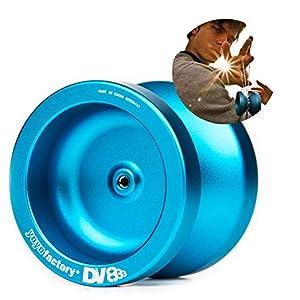 YoyoFactory DV888 Yo-yo - Azul (Genial para Principiantes, Juego Yoyo Moderno, Cuerda e Instrucciones Incluidas)