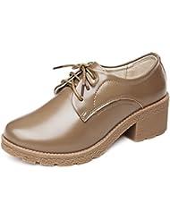 primavera y otoño zapatos/Zapatos de tacón grueso/Plataforma zapatos de cuero/Zapatos coreanos del/Zapatos