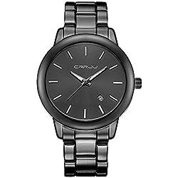 Longqi Luxury Design Alloy Womens Watches Waterproof Quartz Wristwatch