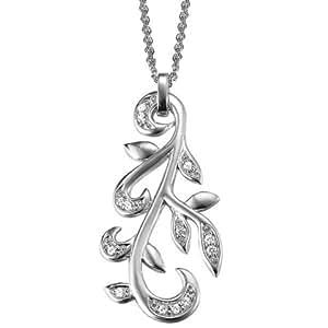 Esprit Damen-Halskette Winter Leafs 925 Sterling Silber 75 cm ESNL92074A750