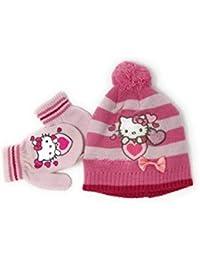 de862a4e4c13 Hello kitty Bonnet et moufles bébé enfant fille 3 coloris de 9mois à 3ans