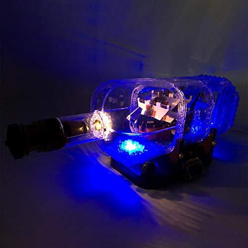 heresell Light Set per (Nave in Una Bottiglia) Building Blocks Model-LED Kit Compatibile con Lego 21313(Non Inclusi)