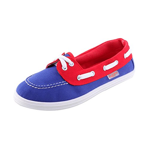 Lancer Women's Twinkle-03Rbl Blue And Red Walking Shoes - 4 UK