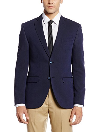 Blackberrys Men's Slim Fit Blazer (8907196643122_CJROND2NYBE23NLL40_Blue)