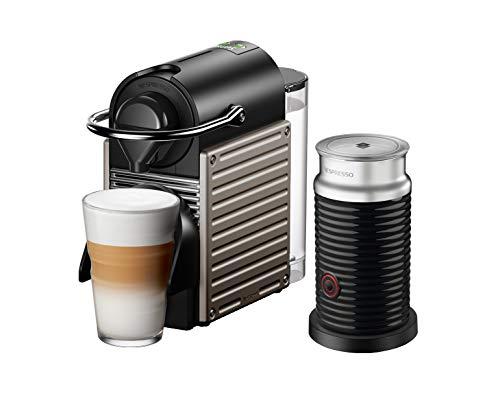 Krups Nespresso Pixie XN305T 1260 - Cafetera de cápsulas, color titanio