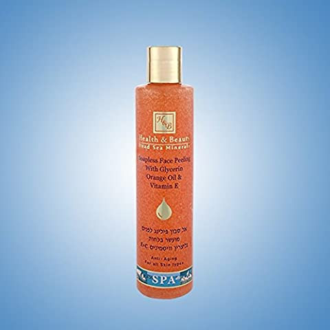 Health & Beauty Dead Sea Minerals - Soapless Face Peeling with Glycerin, Orange Oil & Vitamin E - Anti-Aging for all skin types - 250ml