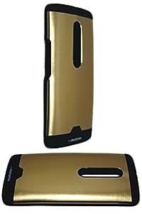 Gold Motomo Exclusive Sleek Design Quality Brushed Metal hard Back Case Cover for Motorola Moto X Play