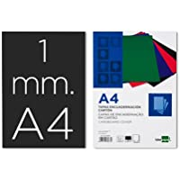 Liderpapel 64088 - Pack de 50 tapas de encuadernación, carton 1 mm, A4, color negro