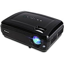 Proiettore iRulu P6Video Projector LED 1280X 768HD 1080P supporto Android sistema WiFi Home Theater mini Cinema USB, AV, SD HDMI gioco proiettori (nero)