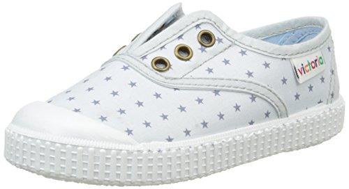 victoria Inglesa Estrellas Elast. Unisex-Kinder Sneaker Gris (11 Gris Perla)