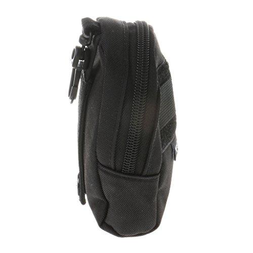 Taktische Gürteltasche mit Gürtelschlaufe, Hochwertig, zusätzliche Tasche für Rucksack Schwarz