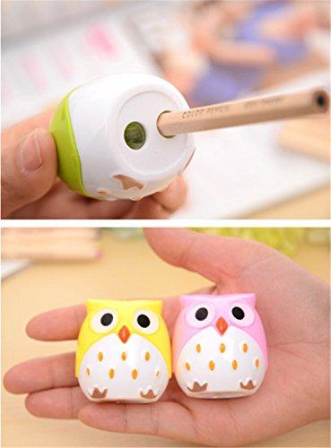 YouPei® Bunte kreative Kinder Schreibwaren Eule Muster Anspitzer (zufällige Farbe) (4PACK)