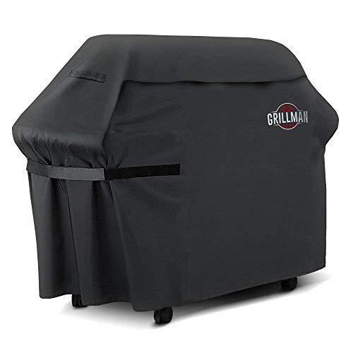 Grillman Premium (152 cm) BBQ, Schwere Grill Abdeckung für Weber, Brinkmann, Char Broil Etc. reissfest, UV-& Wasserabweisend (152 cm / 60 in)