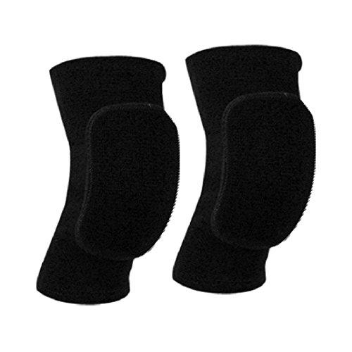 Ginocchiere Paciffico, ginocchiera, protezione per ginocchia, anti-urto, per bambini, antiscivolo, ginocchiere in cotone imbottite, adatte per sport o danza, [L]black