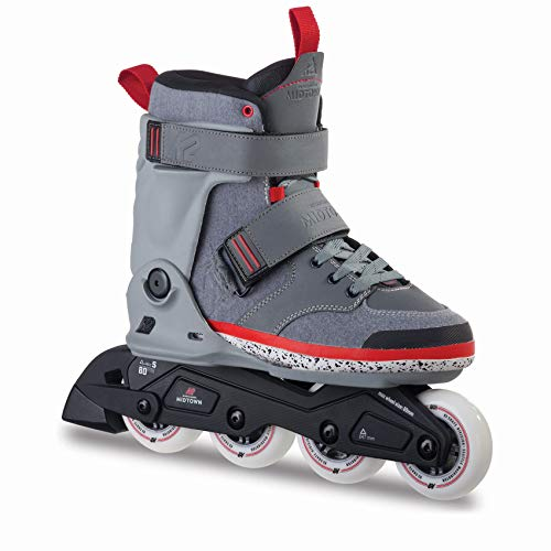 K2 Erwachsene Inline Skates Midtown Gray - Grau - EU: 42 (US: 9 - UK: 8) - 30A0014.1.1.090