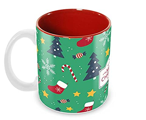 Tuelip Printed Best Wishes Gifts for Merry Christmas and New Year Tea and Coffee Ceramic Mug 350 ml