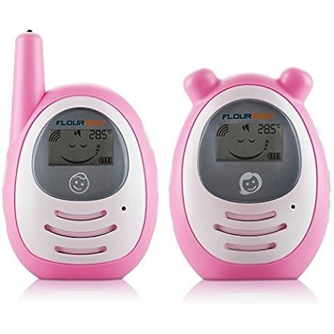 Floureon BM-156 Digitale Display Baby Monitor con Tecnologia FHSS Digitale Wireless Estremamente Silenzioso, Interferenza Basso Stile del