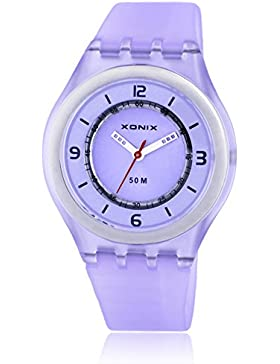 Kinder strass analoge quarzuhr,Gelee einfach 50 m wasserdicht harz gurt ultra dünne m?dchen oder jungen mode armbanduhr-H