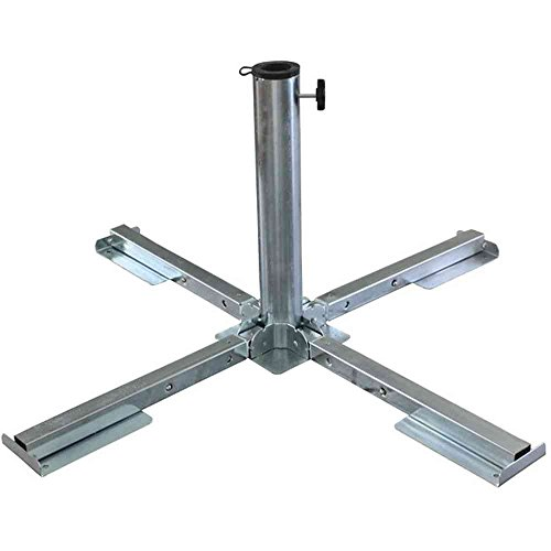 Schirmständer aus verzinktem Stahl zusammenklappbar für Schirmstock, 38 - 48 mm Brema 920
