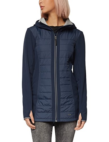 Bench Quilted Jacket, Giacca Donna, Blue (Dark Navy Blue), Medium