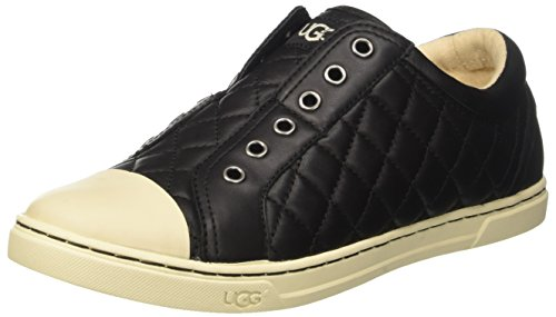 ugg-australia-womens-jemma-quilted-low-trainers-black-size-8-uk