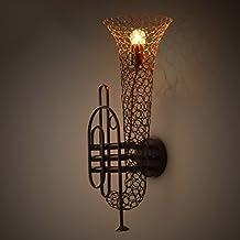 Lily's-uk Love Lámpara de pared Bar Café Loft Retro Industrial viento pasillo lámpara de pared de instrumentos musicales
