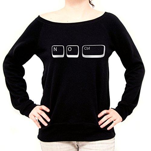 Felpa Fashion SENZA CONTROLLO FUNNY NERD - MUSH by Mush Dress Your Style Nera