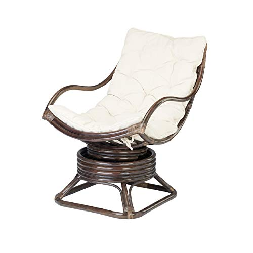 Rotin Design REBAJAS : -43% Mecedora ratan Valentino de bambu marron moderna y barata