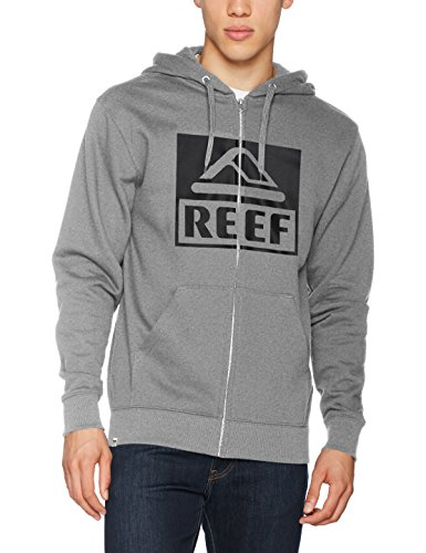 Reef_Apparel Herren Kapuzenpullover Reef Classic Zip Sta Grau (Heather/Grey Hgr)