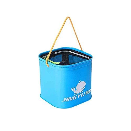 Providethebest Lavabo Engrosada EVA Plegable del Cubo de Agua Acampar al Aire Libre del envase del Agua Pesca de Coches Azul Claro