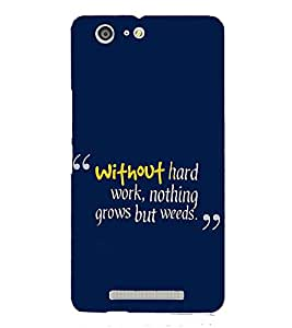 PrintVisa Designer Back Case Cover for Gionee Marathon M5 (message oriented without nothing grows but weeds)