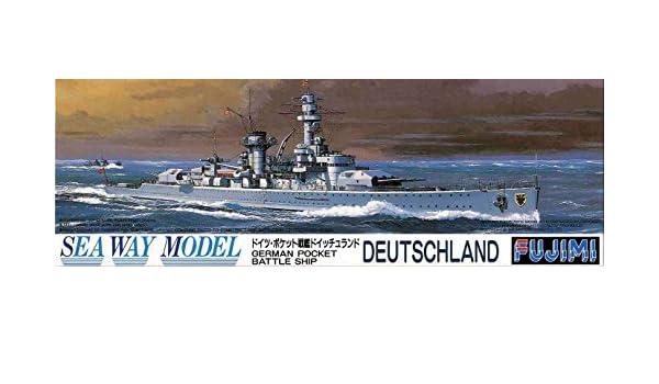 #29 FUJIMI 42129 German Pocket Battle Ship Deutschland in 1:700
