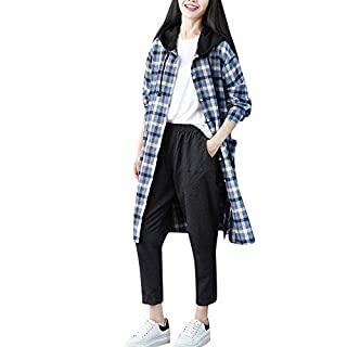 YIHANK Women Pocket Shirt Tops,Plus Size Casual Boho Plaid Blouse Loose Long SleeveGet Up App Local At Space Burlington Biker Awlgrip Wiki Guys Bed Drop Locations Inc Oven
