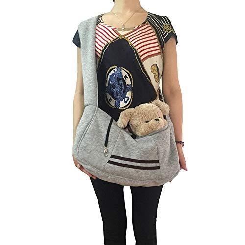 FELICIOO Pet Rucksack Hund aus einzelnem Schulter Diagonal Tasche niedlichen Bogen Umhängetasche (Farbe : Grau, Size : 25 * 45cm) (Bogen-schulter-tasche)