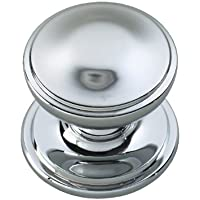 Smoke Bohemian Glass Faceted Small Door Knob