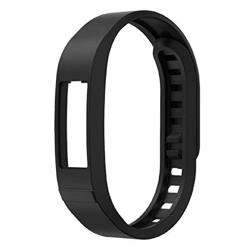 vistuale Smart Watch Cinturino da Polso, Sport TPU Orologio di ricambio per Garmin Vivofit 2, Black, Length:130mm-215mm