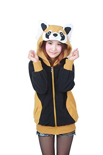 Kapuzenpulli Erwachsene Waschbär Unisex Anime Kostüm Neuheit Kigurumi Hoodies Lässige Sportbekleidung Mantel Kapuzenpullover (Anime Kostüme Für Männer)