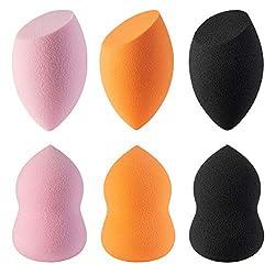 Amoore Make Up Sponge Make Up Sponge Latex-Free Blender Foundation Sponges Makeup Powder Puff (6-pack)