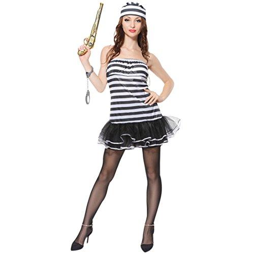 Yuena Care Halloween Kostüm Sträflinge Richter Uniform für Cosplay Karneval Fasching Party #4