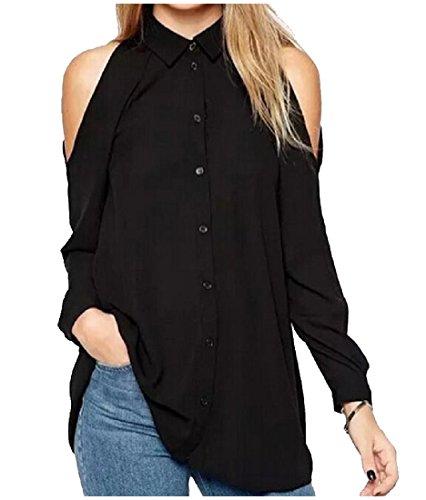 Tootlessly-Women Damen Bluse Gr. Medium, schwarz - Tie-front Woven Shirt