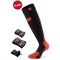 Lenz Heat 5.0 Toe Cap beheizbare Socken mit Lithium 1800 Akku Pack I Damen I Herren I Merinowolle I 20 Stunden Heizleistung I Fußwärmer